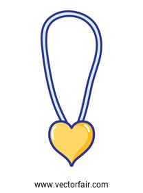 necklace fashion jewelry with heart accesory