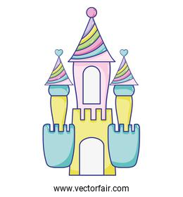 fantasty medieval castle with cute design