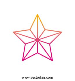 degraded line shiny star in the sky design icon