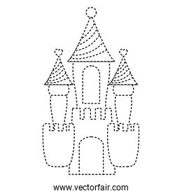 dotted shape fantasty medieval castle with cute design