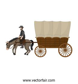 horse with carriage travel transport vehicle