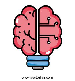 brain bulb technology to artificial intelligence