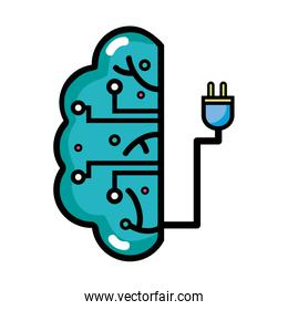 brain circuit intelligence with power cable