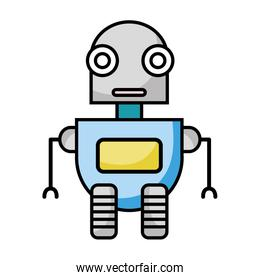 futuristic robot technology with artificial intelligence
