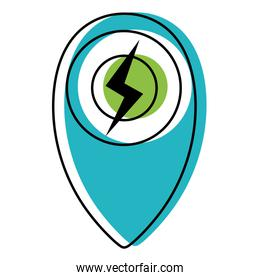 moved color power hazard energy symbol to ecology conservation