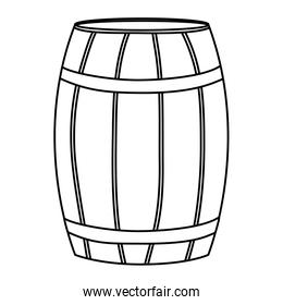 line wood barrel object style design