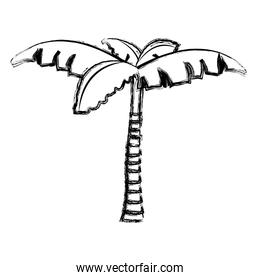 grunge tropical palm tree with natural design