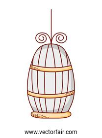 metal bird cage object design