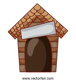 wood dog house protection object