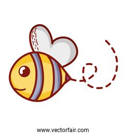 bee cute insect animal flying