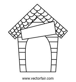 line wood dog house protection object