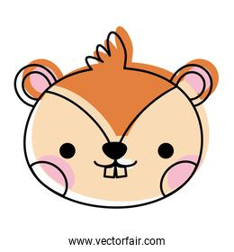 moved color chipmunk head cute wild animal