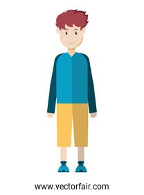 man with haistyle design and casual clothes