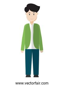 man with casual clothes and haistyle design