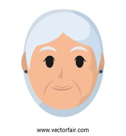 elderly woman head with hairstyle design