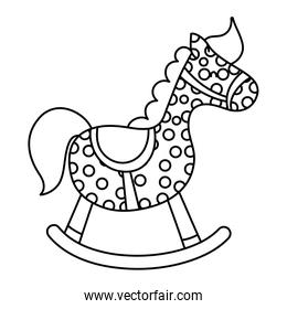 line wooden rocking pony horse toy