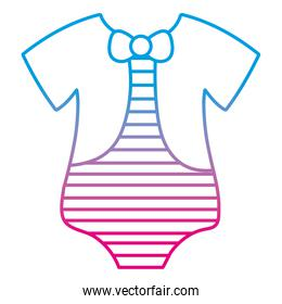 degraded line baby chaild one piece clothes