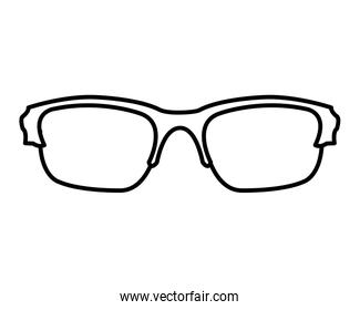 line optical frame glasses object style