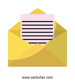 letter with document text message information
