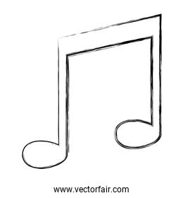 grunge rhythm music note tone sign