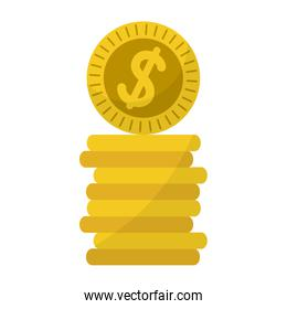 metal dollar coins money currency