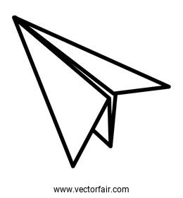line paper airplane fly origami object