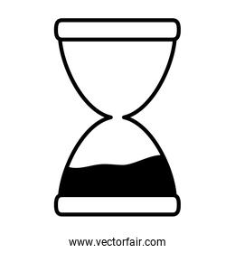 line sand hourglass countdown object time
