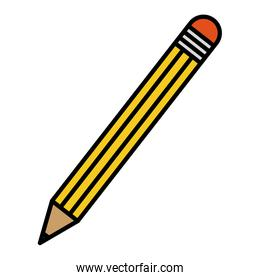color pencil school object to drawing and write