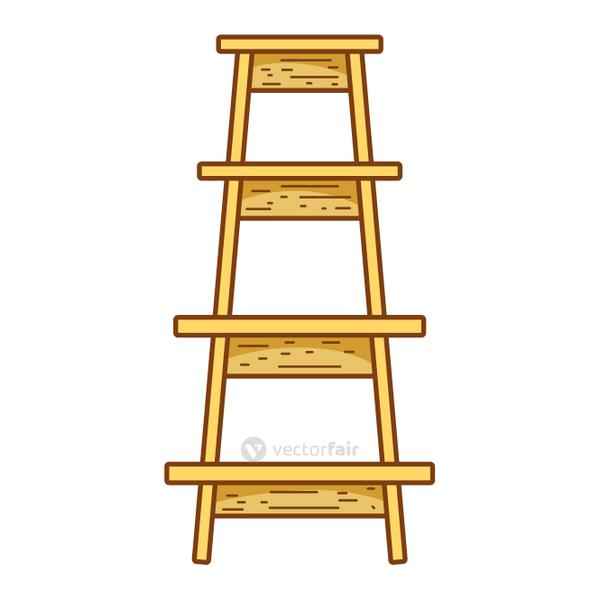 wood ladder step construction object