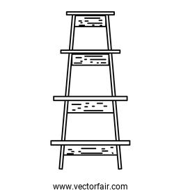 line wood ladder step construction object