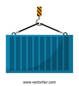 cargo metal container hanging of the hook