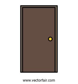 color front wood door entrance object