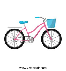 feminine bicycle transportation with basket and tires