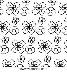 line beautiful flowers with natural petals background