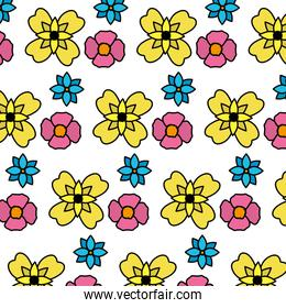 color beautiful flowers with natural petals background