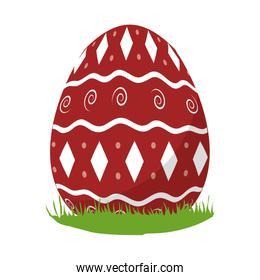 egg easter with geometric figures decoration