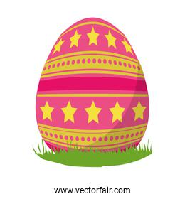 egg easter with stars and points decoration