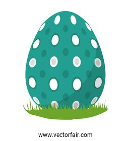 egg easter with points decorative design