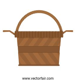wood hamper object to holiday celebration