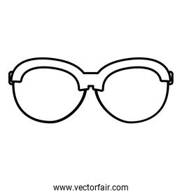 line frame optical glasses object style