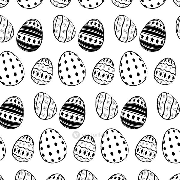 grunge eggs easter traditional decoration background