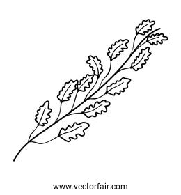 line cute exotic branches leaves style