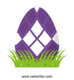 egg easter with geometric shape decoration