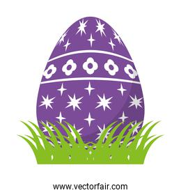 egg easter with stars and flowers decoration