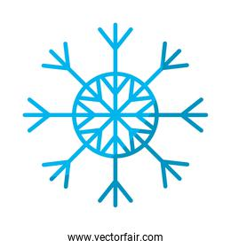 natural snowflake style in winter season