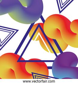 geometric and abstract graphic figures background