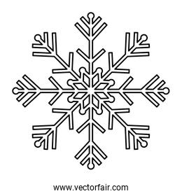 line natural snowflake design in winter season