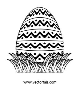 grunge egg easter with points shape decoration