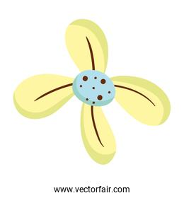 nature flower design with style petals