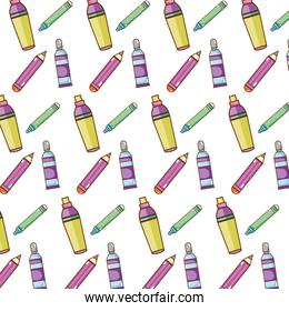 highlighter pen and colored pencil background